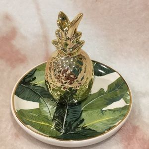 Pineapple Trinket/Jewelry Tray, 8 Oak Lane NWT
